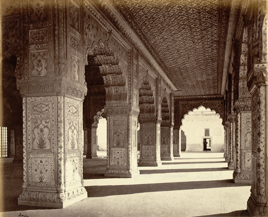 Interior of the King's Palace [sic. Diwan-i Khas or Hall of Private Audience], Delhi